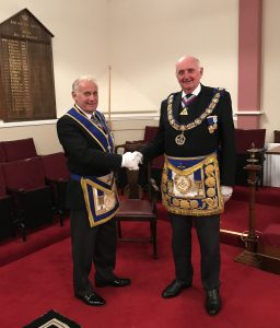 W. Bro. Rick meets the PGM of Durham